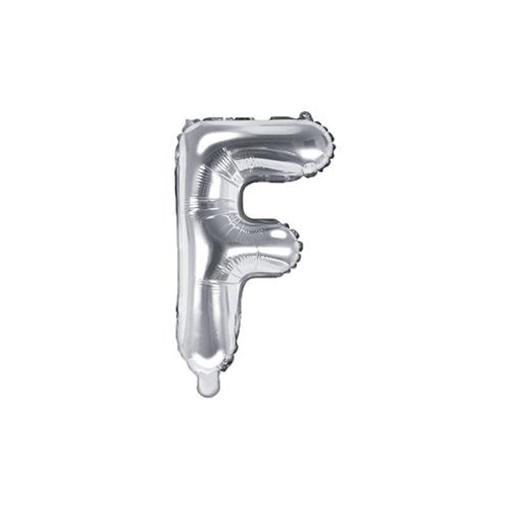 Obrázek z Foliové písmeno F stříbrné 35 cm
