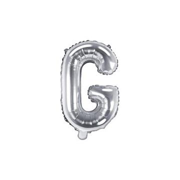 Obrázek Foliové písmeno G stříbrné 35 cm