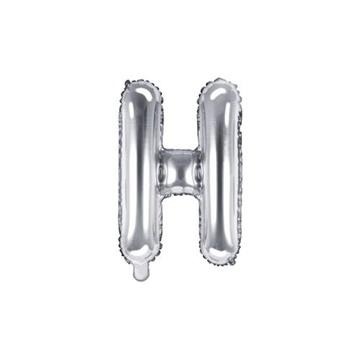 Obrázek Foliové písmeno H stříbrné 35 cm