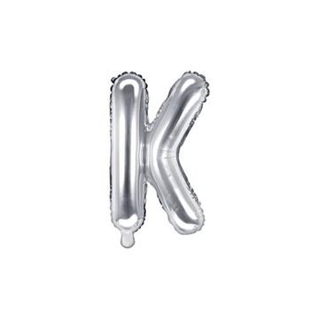 Obrázek Foliové písmeno K stříbrné 35 cm