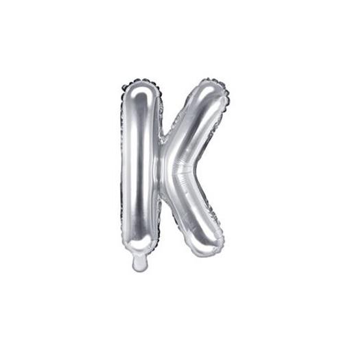 Obrázek z Foliové písmeno K stříbrné 35 cm