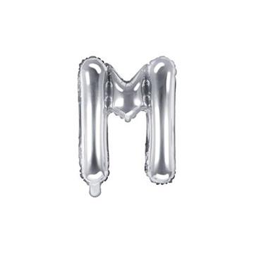 Obrázek Foliové písmeno M stříbrné 35 cm