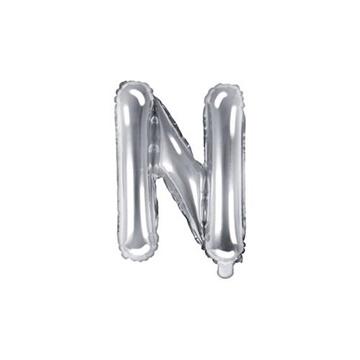 Obrázek Foliové písmeno N stříbrné 35 cm