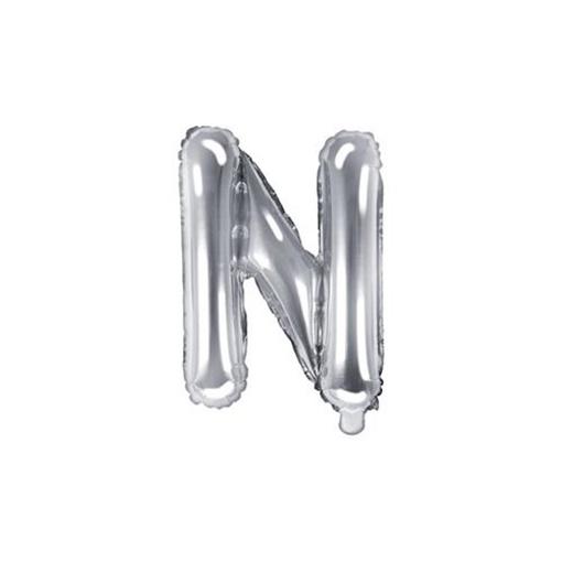 Obrázek z Foliové písmeno N stříbrné 35 cm
