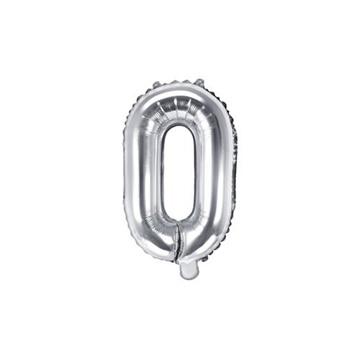 Obrázek Foliové písmeno O stříbrné 35 cm