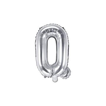 Obrázek Foliové písmeno Q stříbrné 35 cm