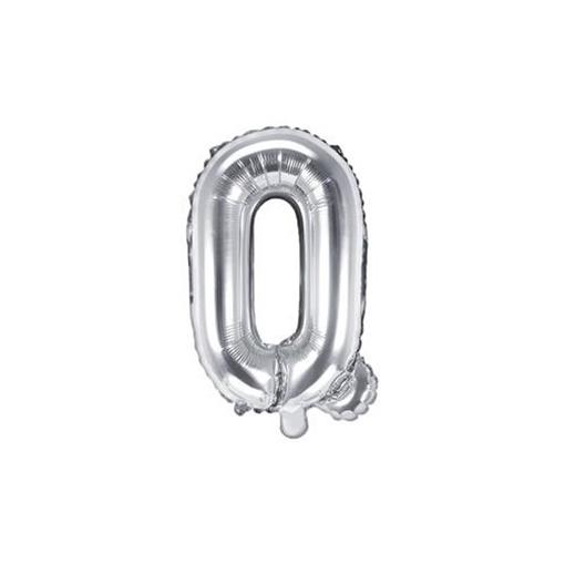 Obrázek z Foliové písmeno Q stříbrné 35 cm