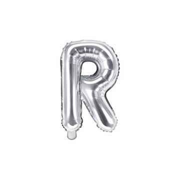 Obrázek Foliové písmeno R stříbrné 35 cm