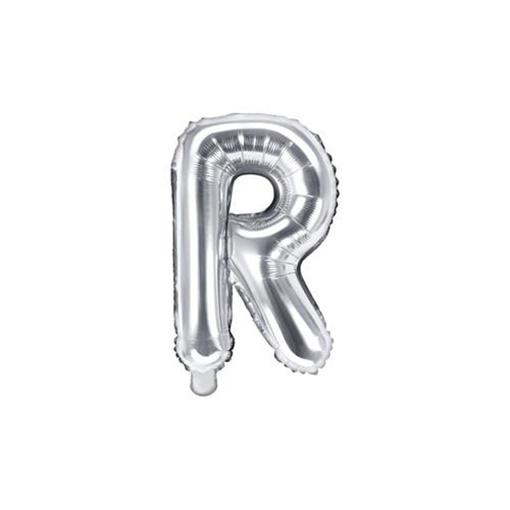 Obrázek z Foliové písmeno R stříbrné 35 cm