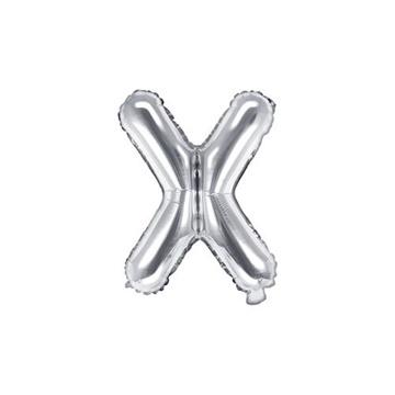 Obrázek Foliové písmeno X stříbrné 35 cm