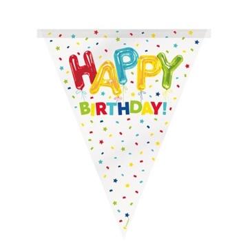 Obrázek Vlaječková girlanda konfetová Happy Birthday 365 cm