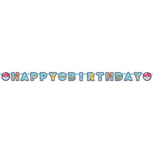 Obrázek z Party nápis Happy Birthday Pokemon 218 cm