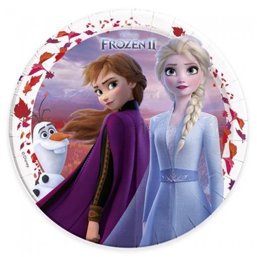 Obrázek z Papírové talíře Frozen 2 - 23 cm - 8 ks