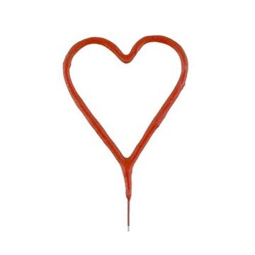 Obrázek Ozdoba na dort - prskavka srdce červené