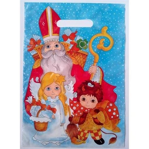 Obrázek z Mikulášská taška - mikuláš anděl a čert 35 x 25 cm