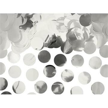 Obrázek Konfety stříbrná kolečka - 240 g
