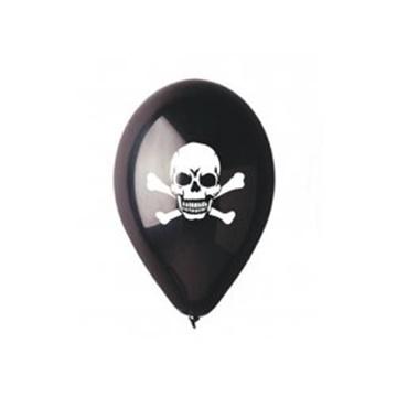 Obrázek Latexový balonek pirátská lebka - černý 30 cm