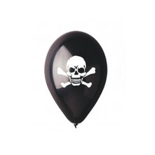 Obrázek z Latexový balonek pirátská lebka - černý 30 cm