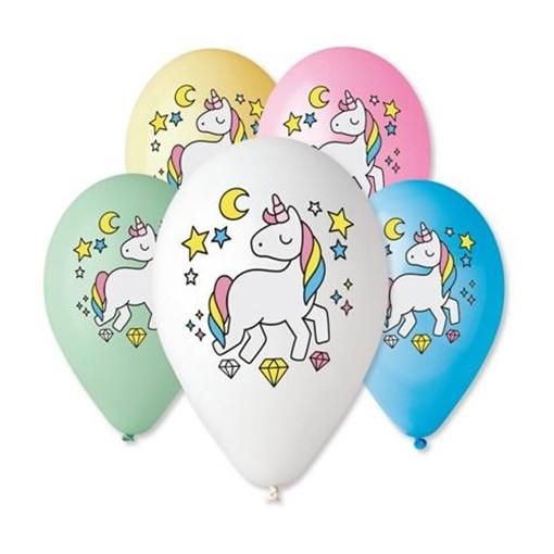 Obrázek z Latexový balonek Jednorožec - barevný potisk 30 cm