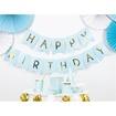 Obrázek z Party nápis Happy Birthday vlaječky modré 175 cm