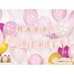Obrázek z Party nápis Happy Birthday vlaječky růžové 175 cm