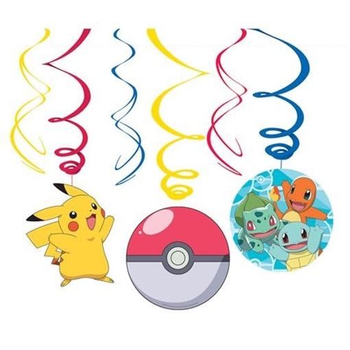 Obrázek z Zavěsné spirály Pokemon 6 ks