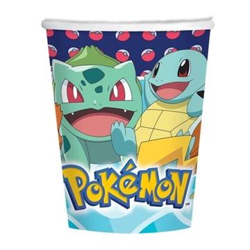 Obrázek Papírové kelímky Pokemon 250 ml