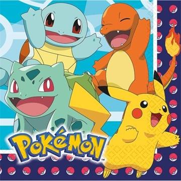 Obrázek Papírové ubrousky Pokemon 16 ks