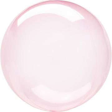 Obrázek Dekorační bublina průhledná růžová 51 cm