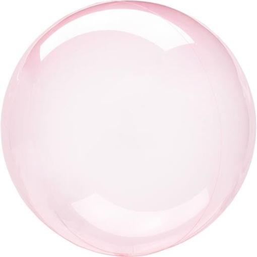Obrázek z Dekorační bublina průhledná růžová 51 cm