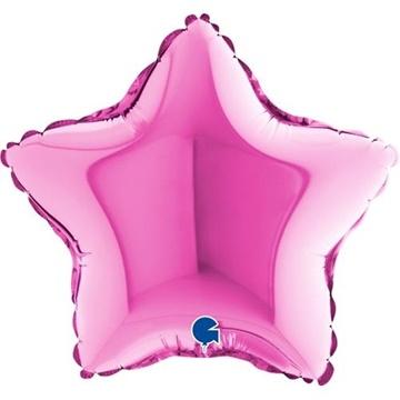 Obrázek Foliový balonek hvězda fuchsia 23 cm