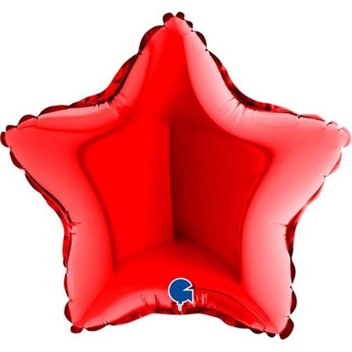 Obrázek z Foliový balonek hvězda červená 23 cm
