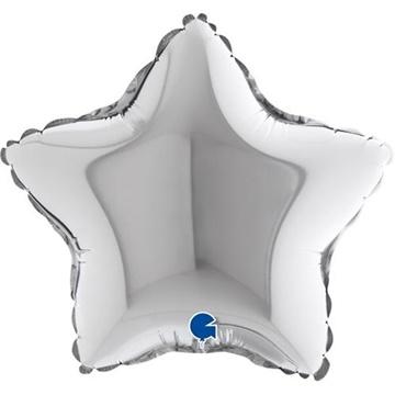 Obrázek Foliový balonek hvězda stříbrná 23 cm