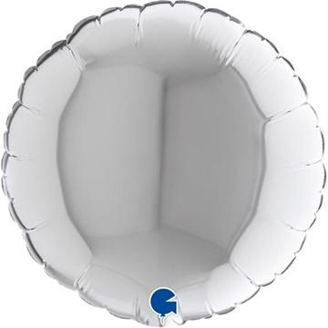Obrázek Foliový balonek kruh stříbrný 23 cm
