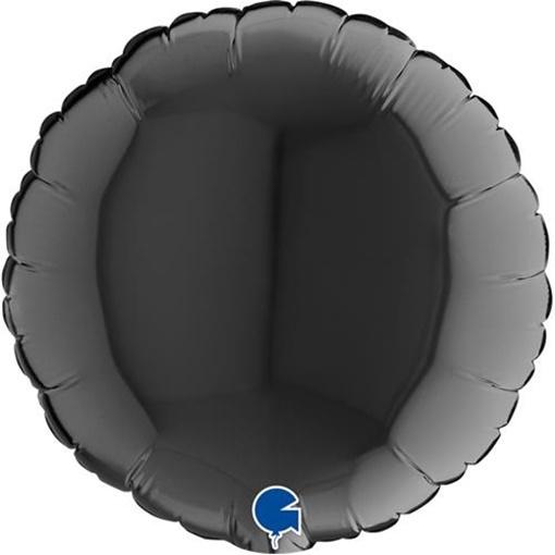 Obrázek z Foliový balonek kruh černý 23 cm