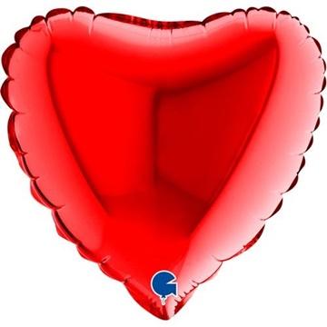 Obrázek Foliový balonek srdce červené 23 cm