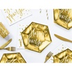 Obrázek z Papírové talířky Happy New Year zlaté metalické 20cm
