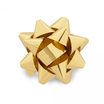 Obrázek Nalepovací hvězdička na dárky zlatá 13 cm