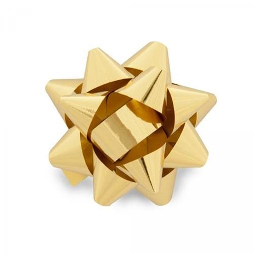 Obrázek z Nalepovací hvězdička na dárky zlatá 13 cm