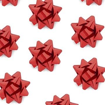 Obrázek Nalepovací hvězdička na dárky červená 8 cm