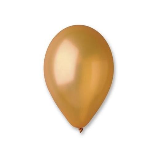Obrázek z Metalické balonky 33 cm - zlaté 50 ks