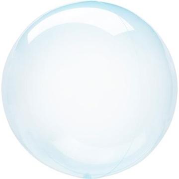 Obrázek Dekorační bublina průhledná modrá 51 cm