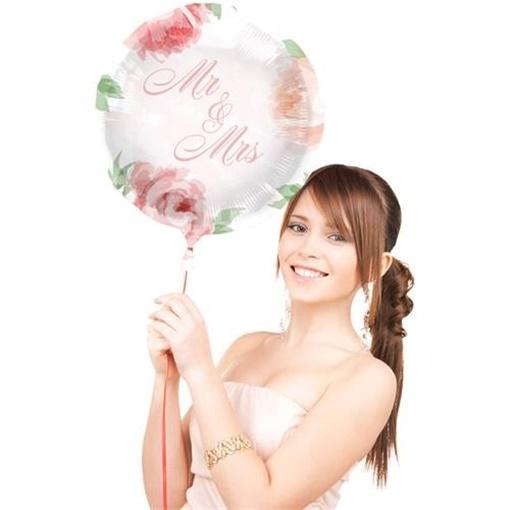 Obrázek z Foliový balonek růže Mr a Mrs 45 cm