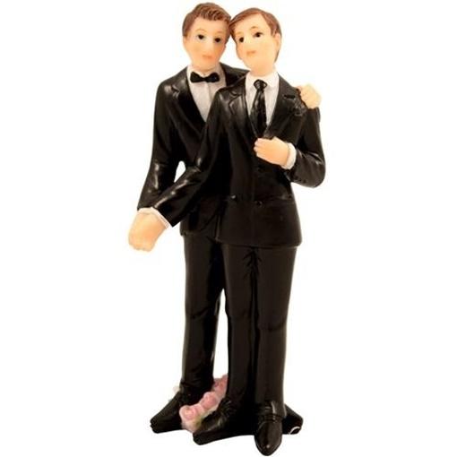 Obrázek z Svatební figurky na dort - gay couple 11 cm