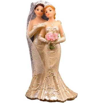 Obrázek Svatební figurky na dort - lesbian couple 11 cm