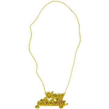 Obrázek Zlatý náhrdelník - Happy birthday