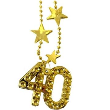 Obrázek Zlatý náhrdelník - s číslem 40