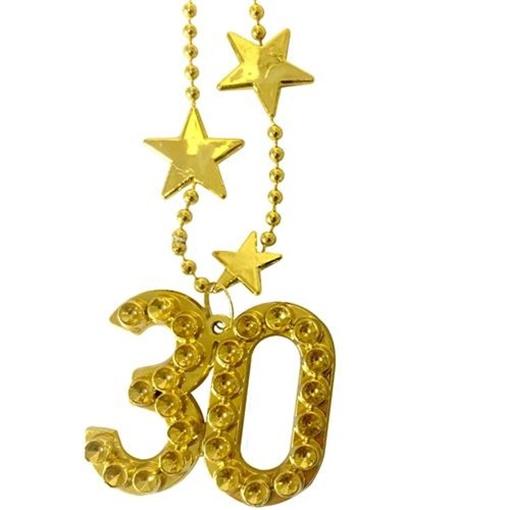 Obrázek z Zlatý náhrdelník - s číslem 30