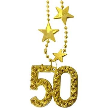 Obrázek Zlatý náhrdelník - s číslem 50