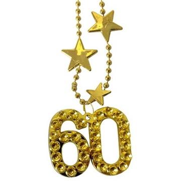 Obrázek Zlatý náhrdelník - s číslem 60